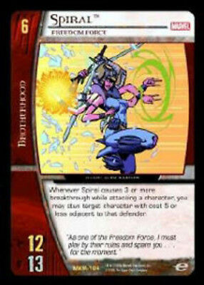 Freedom Force Foil Moderately Played Marvel X-Men TCG CCG VS System: Spiral