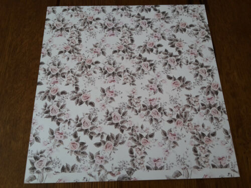 Prima Rose Quartz Foiled Double-Sided Cardstock versch Motive 30,5x30,5 cm