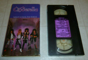 Cinderella-Night-Songs-1987-Rare-VHS-Hair-Metal-Music-Videos-Complete-Vintage