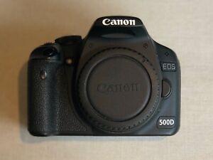 Canon-EOS-500D-corps-de-la-camera-avec-3-batteries-et-chargeur