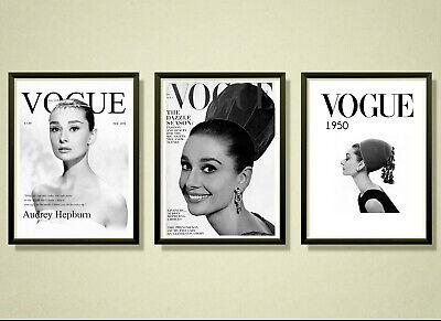 Audrey Hepburn Fashion Design Iconic Decor Art Print Poster A3 A2 A1 A0 Framed