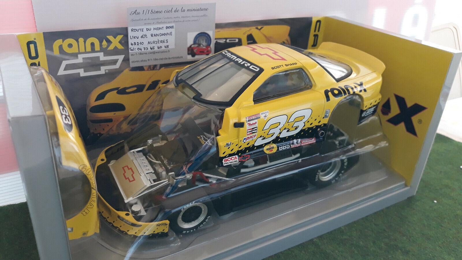 CHEVROLET CAMARO RAIN-X SCOTT SHARP   33 jaune 1 18 GMP 13005 voiture miniat