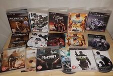 PS3 (Playstation 3) Games Bundle- COD, Uncharted, Saints Row, Fallout (REF V3)