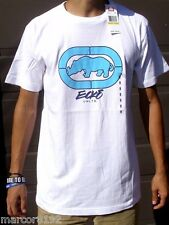 Ecko unltd Men T-Shirt White Tee With Blue Rhino 3D Size Small New W/ Tag