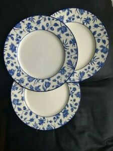 Vintage Royal Stafford blue Spring Garden flowers fine dinner plates white/blue