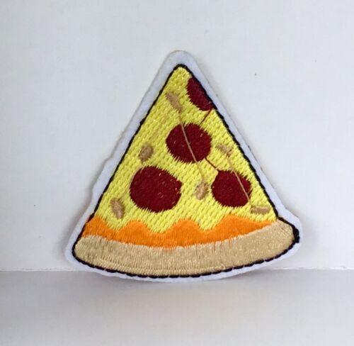 Retro Comida para llevar la pizza Parche bordado apliques coser o hierro en Novedad #64