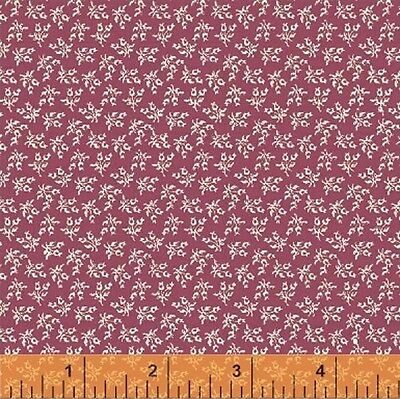 Windham Middleton Place Mauve Pink Red Rose  Floral Quilt Fabric 37505-1 4B