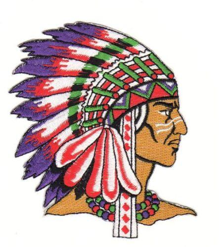Af11 indiani ricamate STAFFA immagine bambini applicazione rappezzi DIY BIKER Stati Uniti Patch