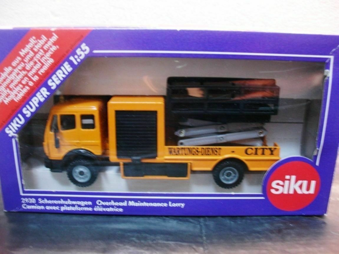 WOW EXTREMELY RARE Mercedes SK Overhead Maintenance Lorry Yellow 1 55 Siku