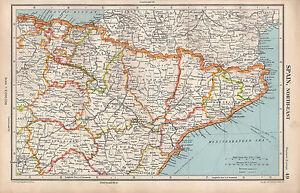 Teruel Spain Map.1952 Map Spain North East Teruel Logrono Navarra