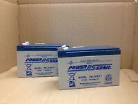 Powersonic 12v 7ah Burglar Alarm/fire Alarm Battery Ps1270 X 2