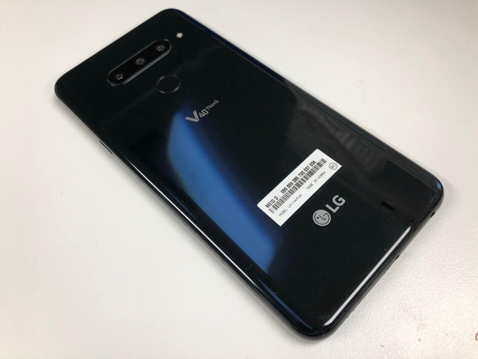 LG V40 ThinQ LM-V405UA – 64GB – Black (Sprint T-mobile AT&T