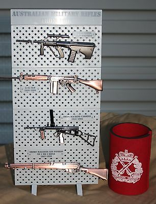 1/6 SCALE AUSSIE RIFLE DISPLAY STAND/RACK -  MODEL SET, DIGGER, RIFLES