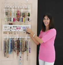 Generic Over The Door Jewelry Valet Storage Organizer Necklace