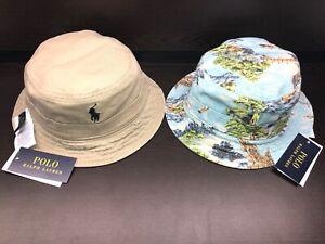 8405f53369550 NEW POLO RALPH LAUREN LANDSCAPE BUCKET HAT FISHING CAP REVERSIBLE ...