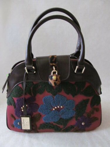 gemaakte mens LockNwt Lederendoor Satchel Floral Sharif W Decorative de Boucle 3RqcAS4L5j