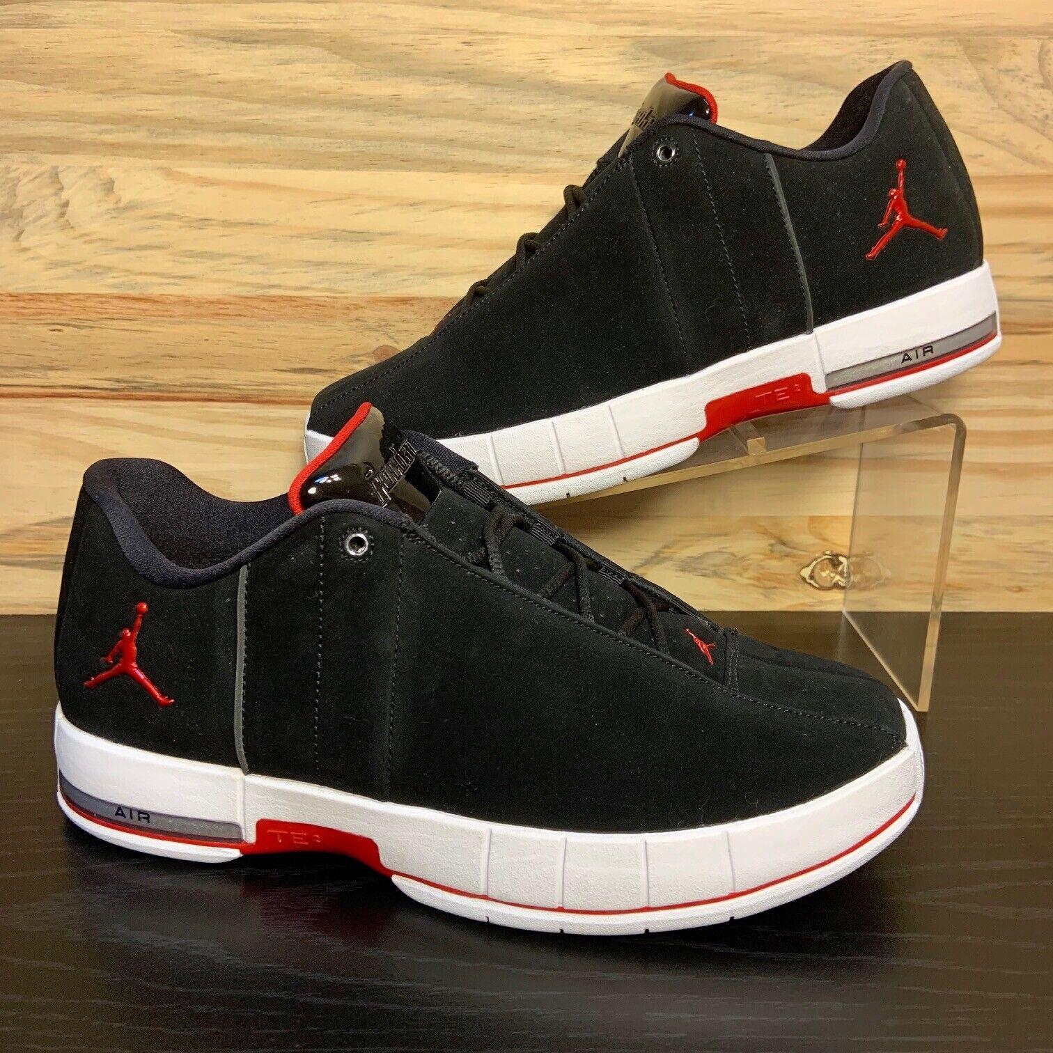 meilleures baskets 0c9b1 b5866 Nike Air Jordan Team Elite 2 Low Men's Suede Shoes Black Red Size 9.5  AO1696-001