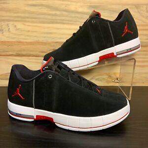 Nike Air Jordan Team Elite 2 Low Men's Suede Shoes Black Red