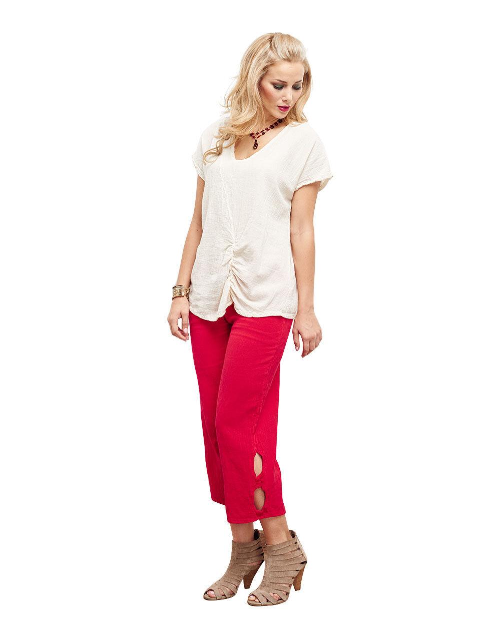 Oh My Gauze Cloud Pant 100% Comfortable Cotton Lagenlook Kurz Length
