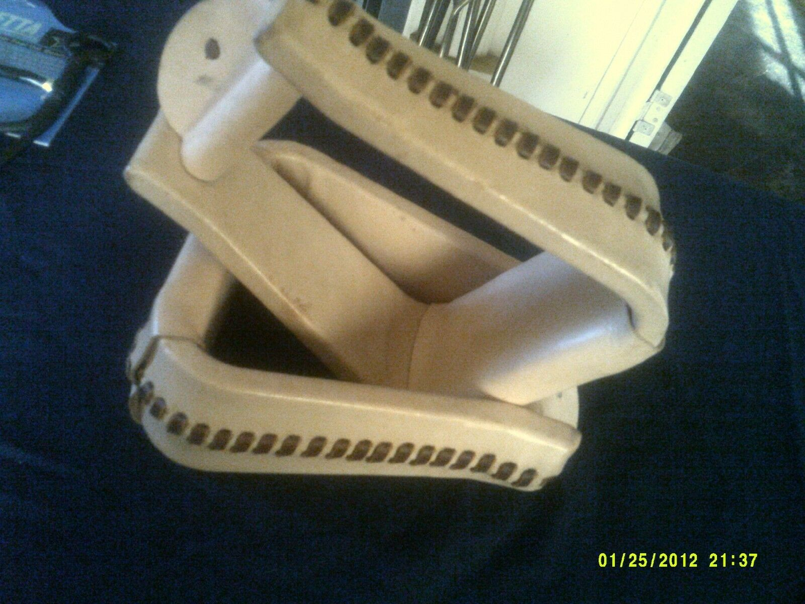 Stirrups Natural Leather with Rawhide Accents