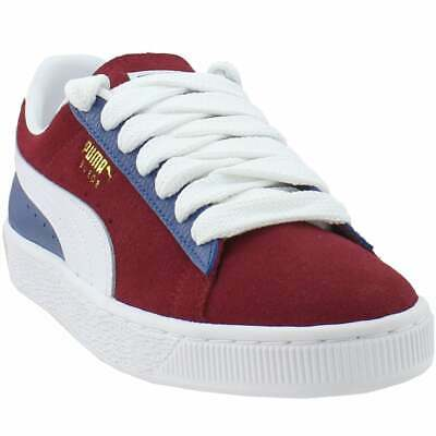 puma suede classic block lace up mens sneakers shoes