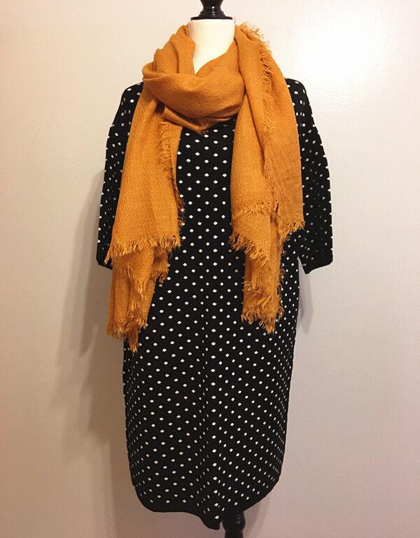 Womens Dresses Dots Print Short Sleeve Sweater Dress Loose Knitwear Tops SZ L