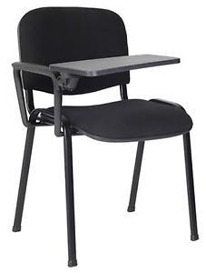 20 x Sedia con ribaltina scrittoio tavoletta NERO sedie attesa ...