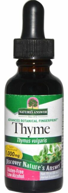NEW NATURE'S ANSWER THYME LOW ALCOHOL GLUTEN FREE HERBAL SUPPLEMENT DAILY CARE