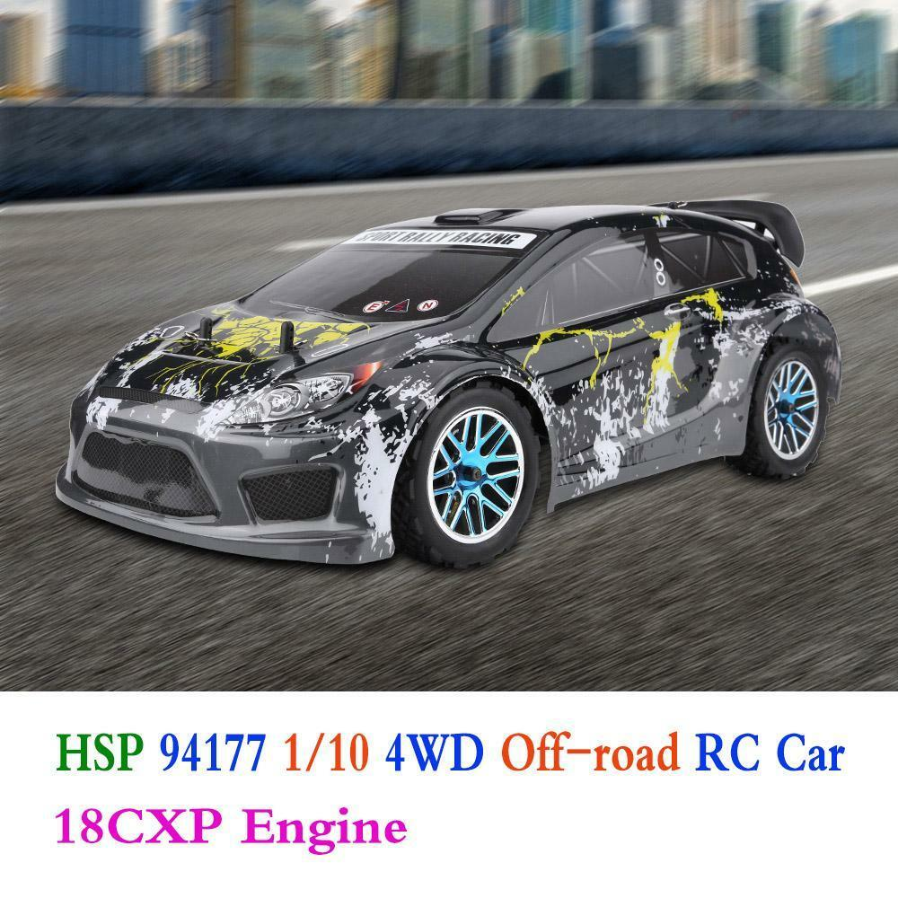 HSP 94177 1 10 Four Wheel Drive Off-road RC Car Nitro Powered 18CXP Engine