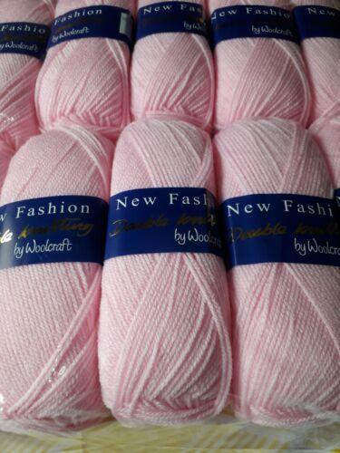 5  100g balls Pink Woolcraft New fashion DK Knitting Wool
