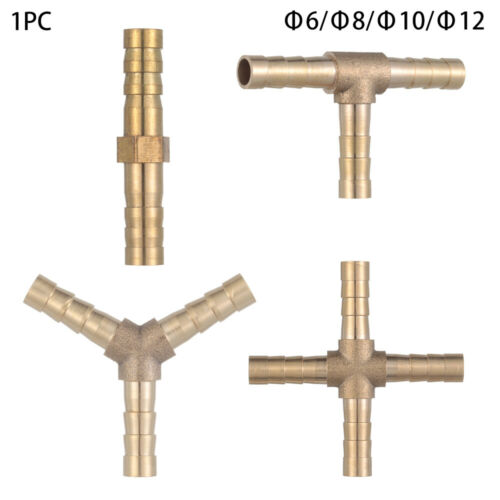 Brass  Hose Tail Barb Fitting Union Pipe Tube Connectors Fuel Water Fluids Air