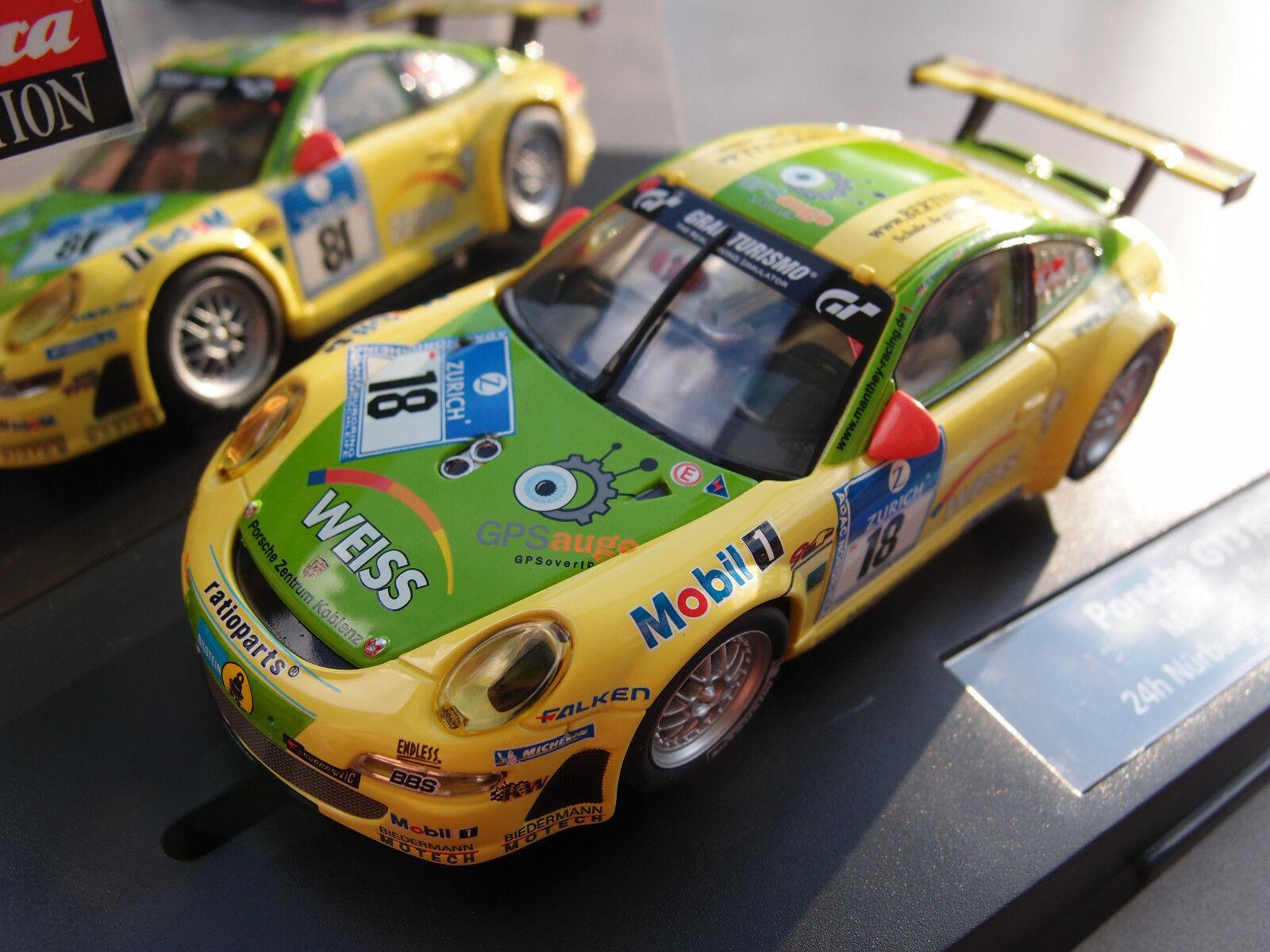 Carrera Evolution 27401 PORSCHE GT3 RSR MANTHEY RACING, 24H NÜRBURGRING 2011  |  Neuer Markt