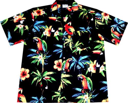 8XL Hawaiiana Hawaian camisas playa flores surf CAMISA HAWAIANA 100/% algodón S