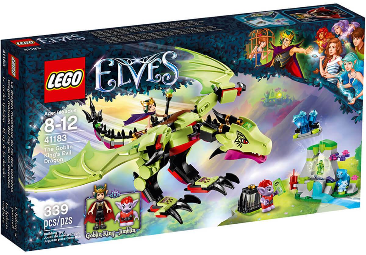 LEGO Elfi il Re Goblin'S EVIL Dragon 41183 IN PENSIONE nuovo in scatola sigillata