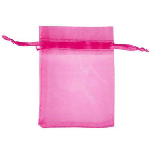 25Pcs ORGANZA Wedding Favour GIFT BAGS Jewellery Candy Pouches 26 Colors/&7 Sizes