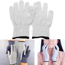 2x Elektroden Massagegerät Massage Handschuhe Reizstrom mit Stecker