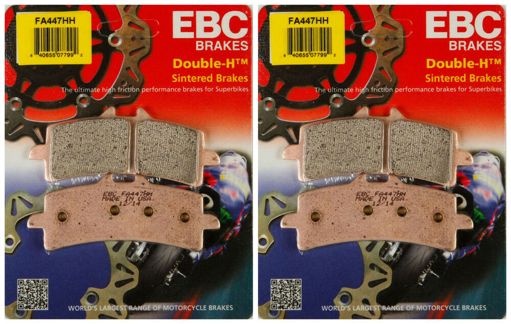 EBC Double-H Sintered Metal Brake Pads FA103HH 2 Packs - Enough for 2 Rotors