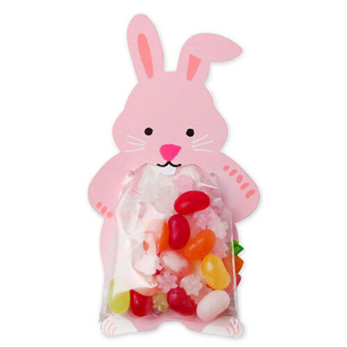 10pcs Gift Bags Cookie Cute Animal Rabbit Bear Cards Candy Box Pouch Party Gifts