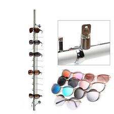 10pcs 12 Frame Lockable Eyewear Sunglasses Eyeglasses Holder Glasses Display Rod
