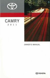 2011 toyota camry owners manual user guide reference operator book rh ebay co uk 2012 camry owners manual 2012 camry owners manual pdf