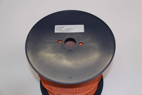 Tauwerk 8mm Polypropylen 1040 daN 3-schäftig Seil Flechtleine Leine Tau