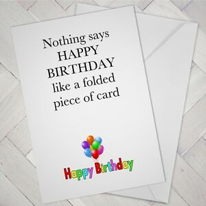 Image Is Loading FUNNY BIRTHDAY CARD Male Female Boy Girl Friend