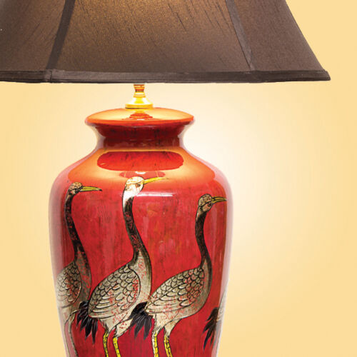 Large Oriental Ceramic Porcelain Table Lamp M8604 Chinese Mandarin Style D