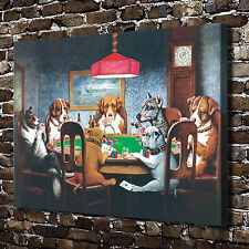 """18""""x24"""" HD Canvas print Home decor painting (No frame) Dogs Playing Poker #0360"""