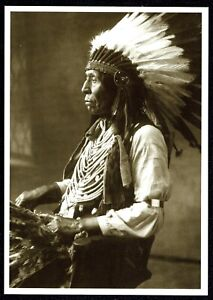 908-Postcard-WILD-HORSE-Oglala-Sioux-Indian-Chief-1897-David-Barry-Photo-NEW
