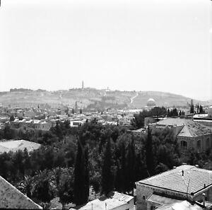 JÉRUSALEM c. 1960 - Panorama Vieille Ville Israël - Négatif 6 x 6 - ISR 18 RyRiEwv3-09152603-510665125