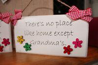 Handcrafted Personalised Plaque Sign Grandma Nan Gran Mum Gift Present.