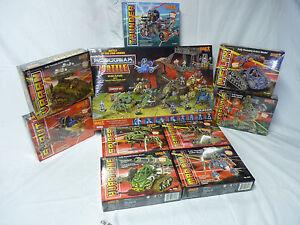 Robogear Mega Lot Jeu And 8 Supplémentaire Figurines 6002-6010