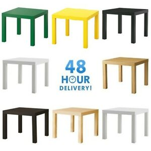 Details Sur Cote Table Fin Display 55cm Carre Petite Table Basse Bureau Chambre A Coucher Ikea Lack Afficher Le Titre D Origine