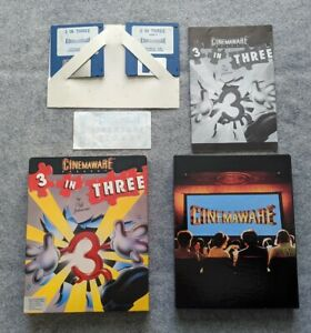 3-in-Three-Cinemaware-Apple-Macintosh-rare-vintage-computer-game-Cliff-Johnson
